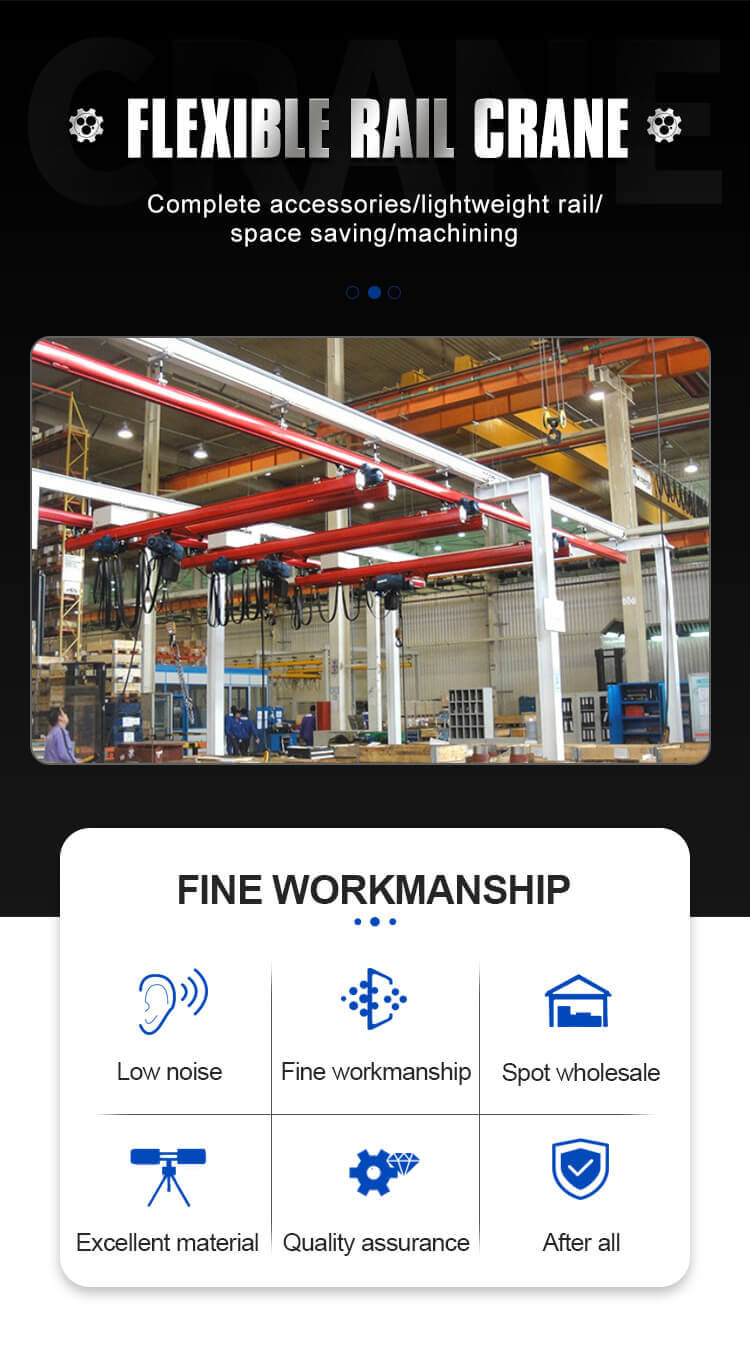 easy operation double beam kbk crane with discount 6