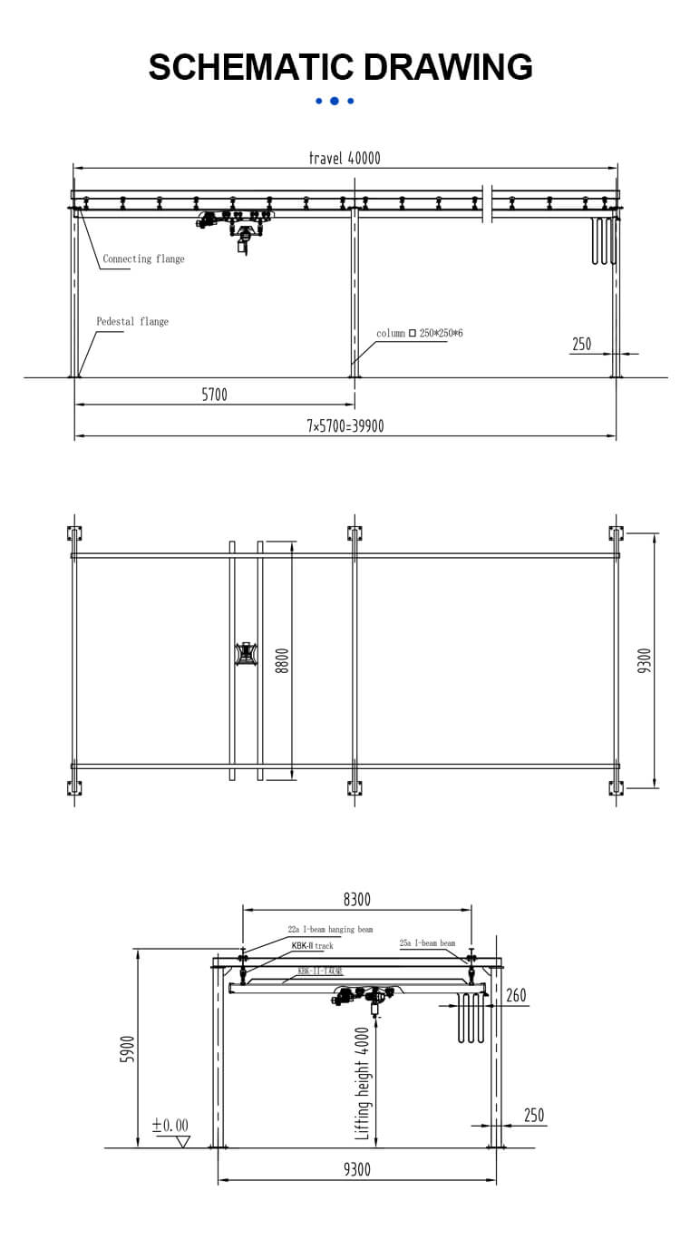 easy operation double beam kbk crane with discount 7