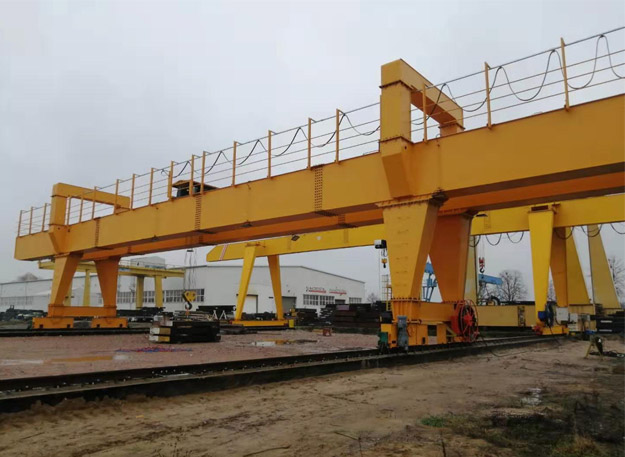 high quality outdoors gantry cranes delivered to qatar 1