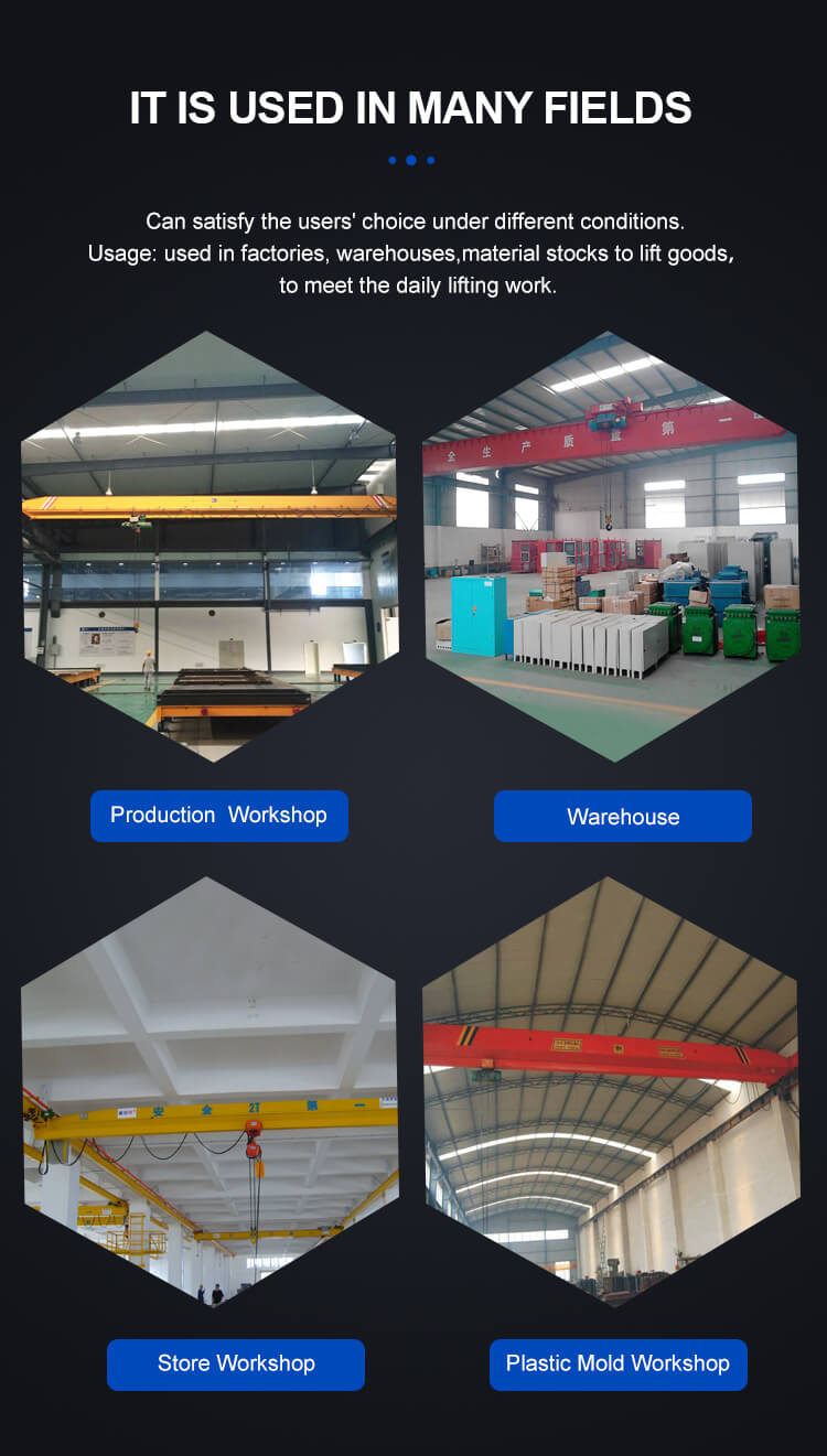 hot selling customized electric lx type suspension overhead crane 8